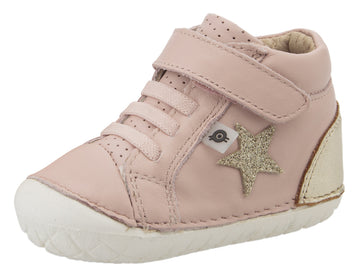 Old Soles Girl's Champster Pave Shoes - Powder Pink/Gold/Glam Gold