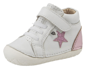 Old Soles Girl's Champster Pave Shoes - Snow/Pink Frost/Glam Pink