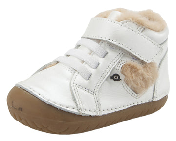 Old Soles With Love Pave Heart Sneaker Booties - Nacardo Blanco