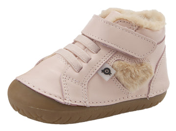 Old Soles With Love Pave Heart Sneaker Booties - Powder Pink