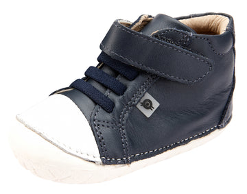 Old Soles Boy's and Girl's 4064 High Pop Shoes - Navy/Snow