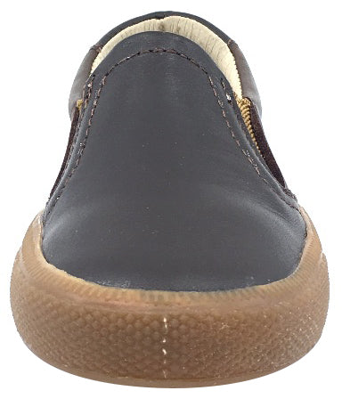 Old Soles Boy's 1029 Dress Hoff Distressed Brown Leather Loafer Shoe