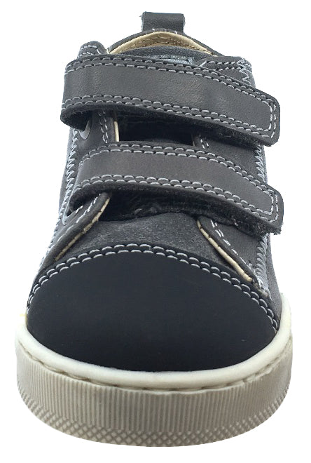Naturino Falcotto Boy's and Girl's Toddler Hal Star Sneaker High-Top Tennis Shoes, Nero-Antracite