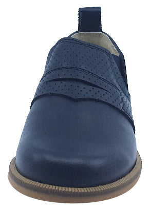 Luccini Boy's and Girl's Slip-On Loafer, Navy