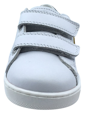 Naturino Falcotto Boy's and Girl's Team Fashion Sneakers, White-Light Blue