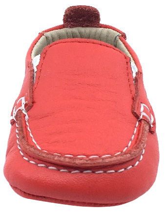 Old Soles Girl's and Boy's Red Baby Boat Shoes