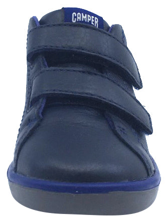 Camper for Boy's and Girl's Leather Hook and Loop Blue Bootie