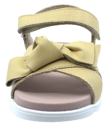 Naturino Girl's Blyde Leather Sandals, Paglia