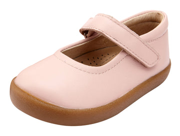 Old Soles Girl's Missy Shoe Leather Mary Jane Shoes, Powder Pink