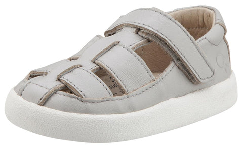 Old Soles Boy's and Girl's Oliver Grey Leather Fisherman Sneaker Shoe Sandal