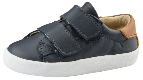 Old Soles Boy's Toddy Hook and Loop Closure Sneaker Shoes, Navy