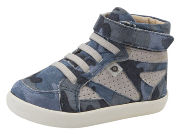 Old Soles Girl's & Boy's New Leader Sneakers - Marine Camo/Grey Suede