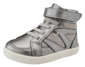 Old Soles Girl's & Boy's New Leader Sneakers - Rich Silver/Grey Suede