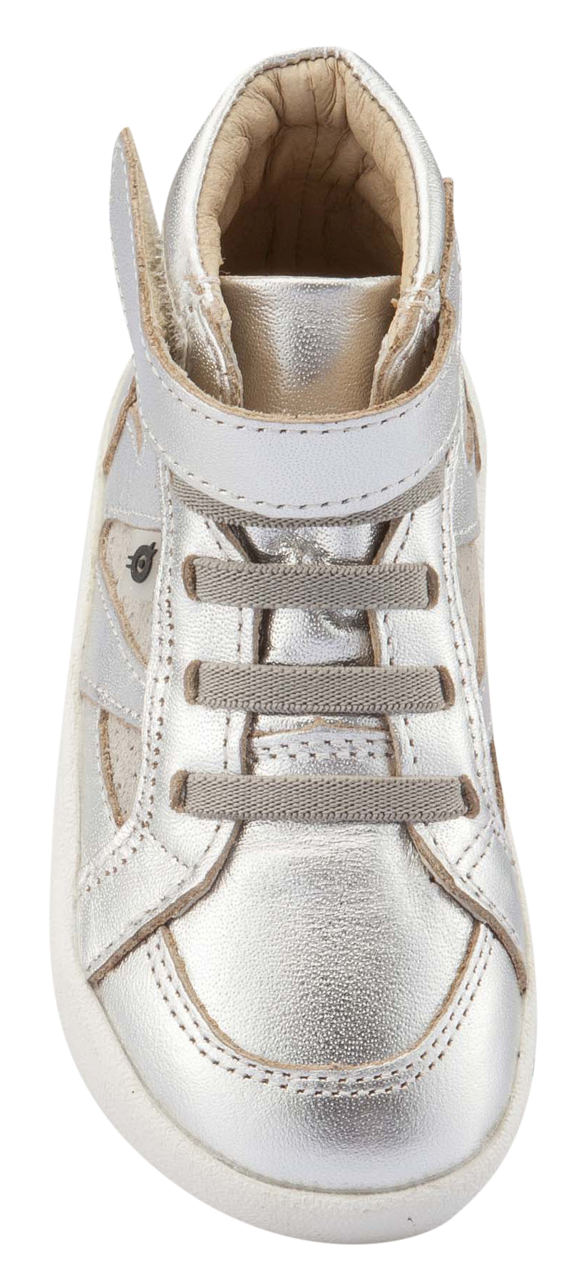 Old Soles Girl's & Boy's New Leader Sneakers, Silver / Grey Suede