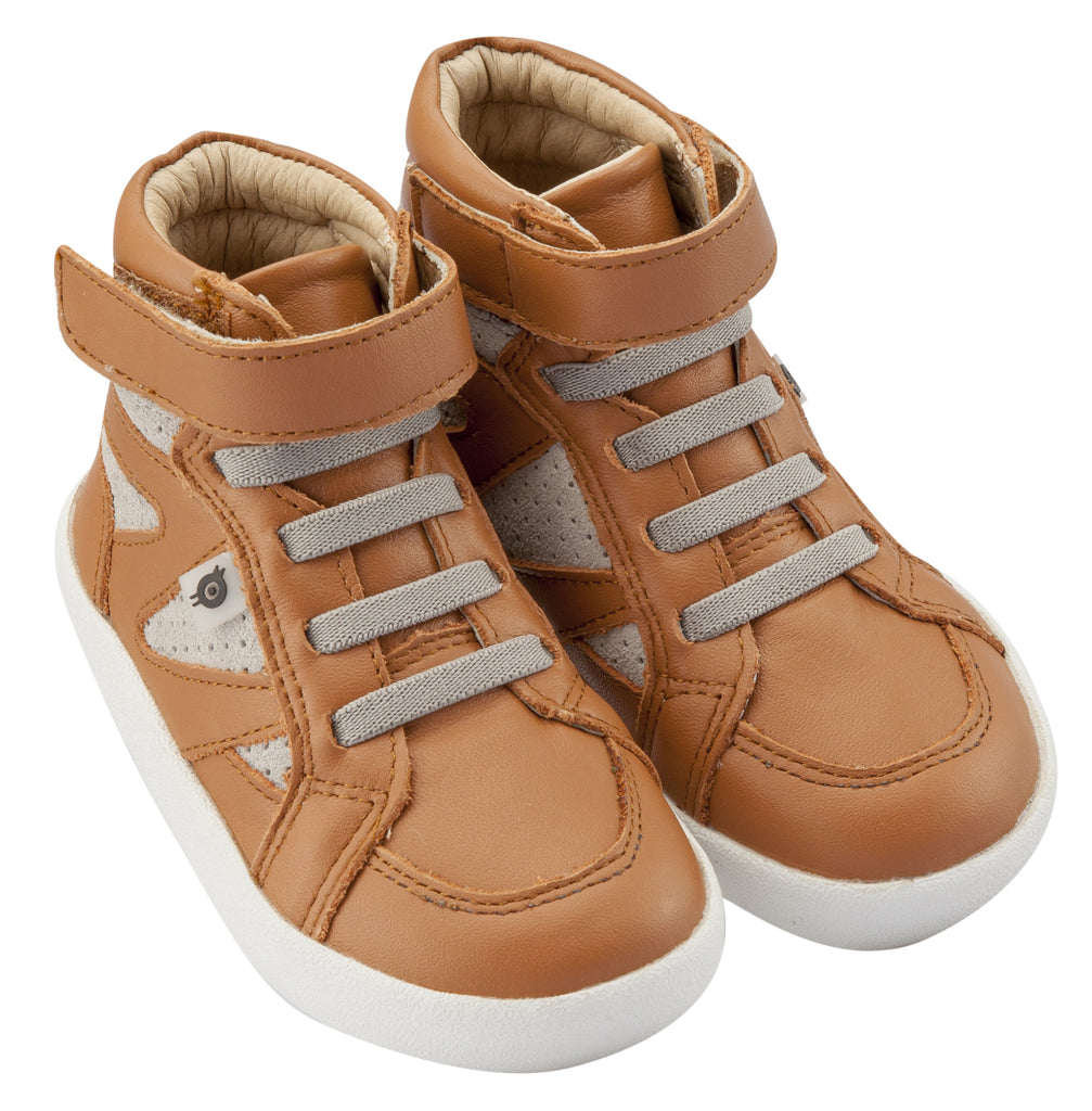 Old Soles Girl's & Boy's New Leader Sneakers, Tan / Grey Suede