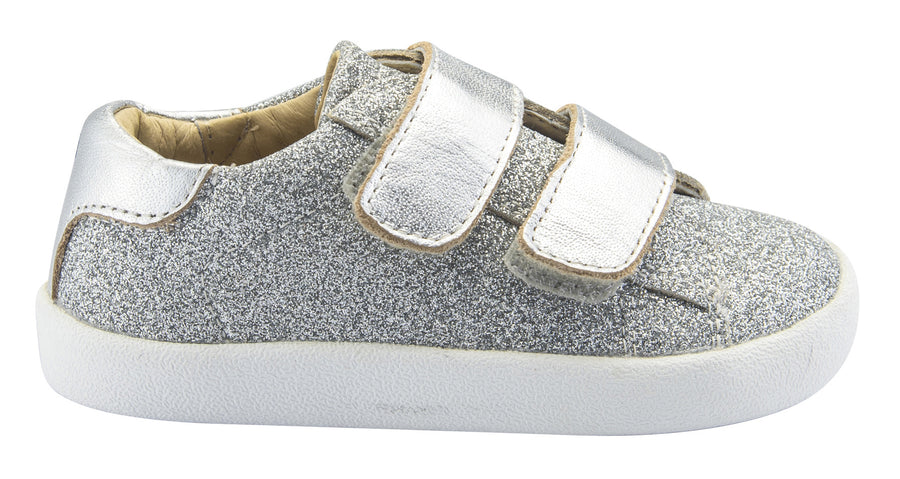 Old Soles Girl's and Boy's Glam Toddy Hook and Loop Closure Sneaker Shoes, Glam Argent/Silver