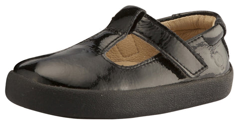 Old Soles Girl's Tod - T Strap Shoes, Black Patent