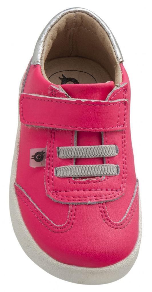 Old Soles Boy's and Girl's Sharp Shoe, Neon Pink/Silver