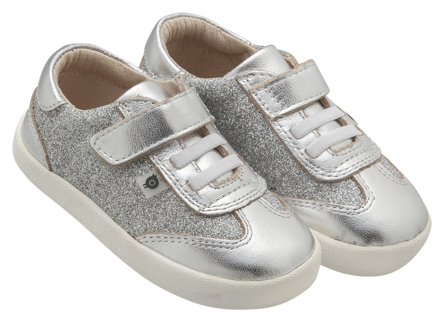 Old Soles Boy's and Girl's Glam Sneakers, Glam Argent / Silver