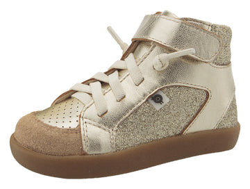 Old Soles Girl's & Boy's 5061 Sprite High Top Leather Sneakers - Gold/Glam Gold/Natural Suede