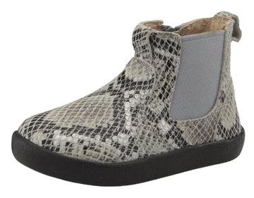 Old Soles Girl's 5064 and Boy's Slip On High Top Ankle Boot Sneaker - Grey Serp