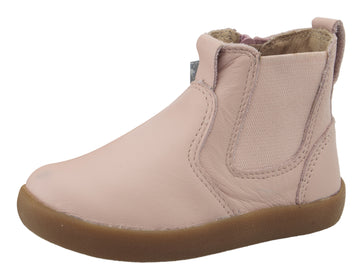 Old Soles Girl's 5064 Slip On High Top Ankle Boot Sneaker - Powder Pink