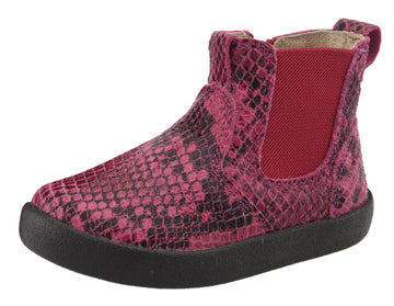 Old Soles Girl's 5064 Slip On High Top Ankle Boot Sneaker - Red Serp