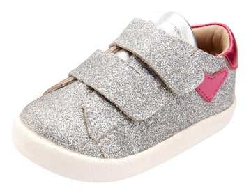 Old Soles Girl's The Beat Shoes, Glam Argent/Fuchsia Foil/Silver/Fuchsia