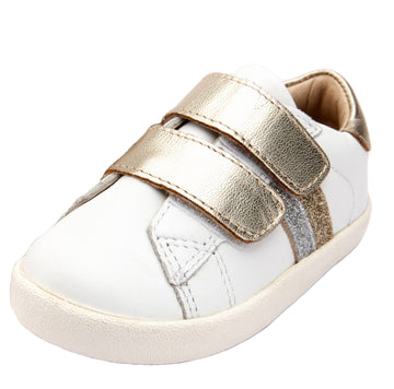 Old Soles Girl's Sport Glam Shoes, Snow/Gold/Glam Gold/Glam Argent