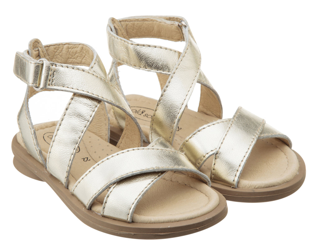 Old Soles Girl's Urban Leather Sandals, Gold