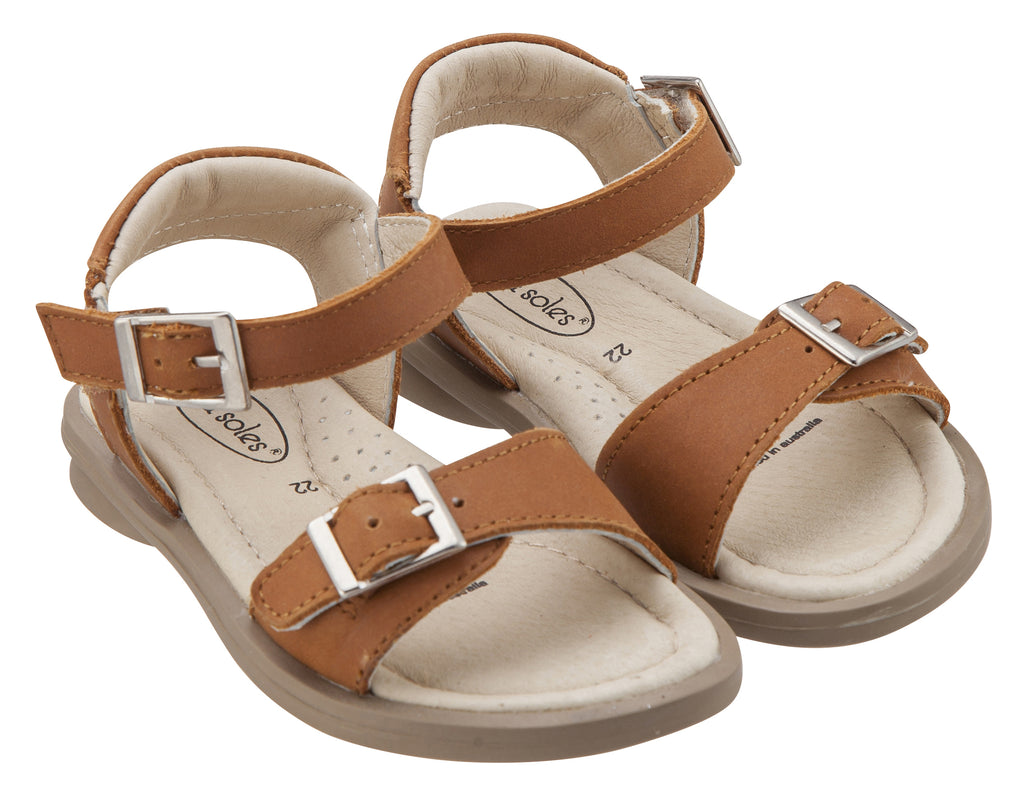 Old Soles Girl's Nevana Leather Sandals, Tan
