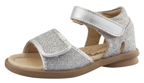 Old Soles Girl's Salsa Leather Sandals, Glam Argent