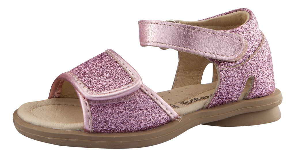 Old Soles Girl's Salsa Leather Sandals, Glam Pink