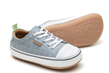 Tip Toey Joey Boy's and Girl's Funky Sneakers, Tide Blue Chess/White