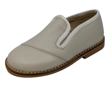 Luccini Boy's BASIL Piso Point Natural Loafer - Ciervo Tangon Beige