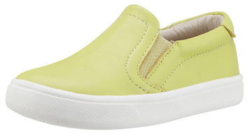 Old Soles Boy's & Girl's 6010 Dressy Hoff Lima Green Leather Slip On Sneaker Shoe