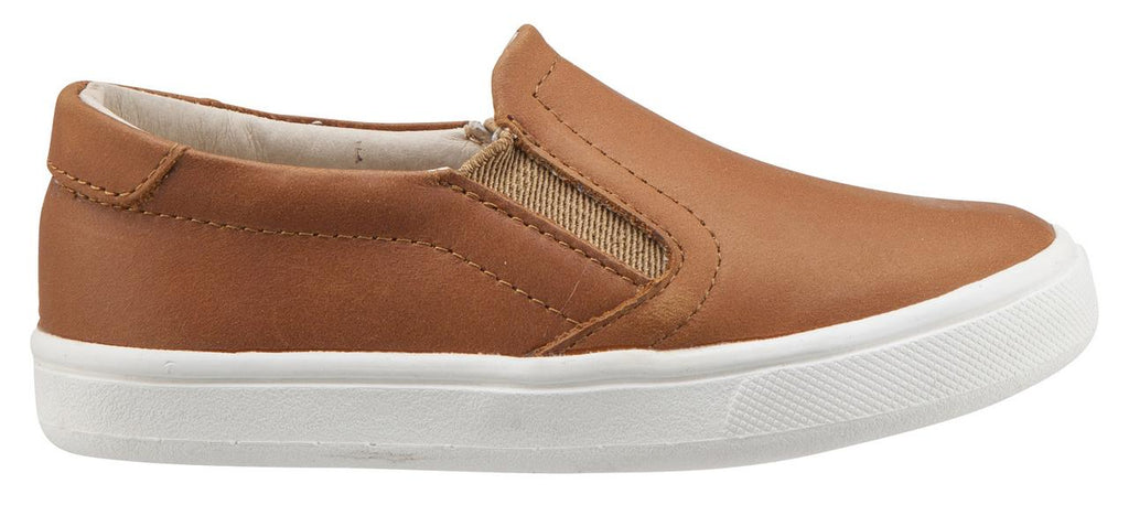 Old Soles Girl's & Boy's 6010 Dressy Hoff Tan Leather Slip On Sneaker Shoe