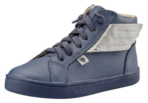 Old Soles Girl's & Boy's Local Wings Sneakers, Denim / Rich Silver