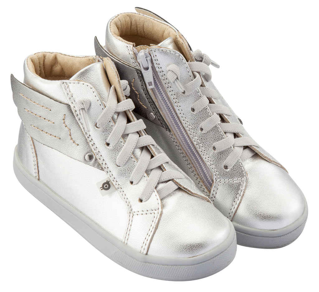 Old Soles Girl's & Boy's Local Wings Sneakers, Silver / Rich Silver
