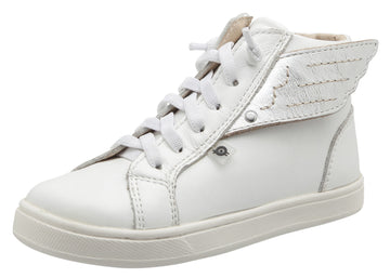 Old Soles Girl's & Boy's Local Wings Sneakers, Snow / Silver