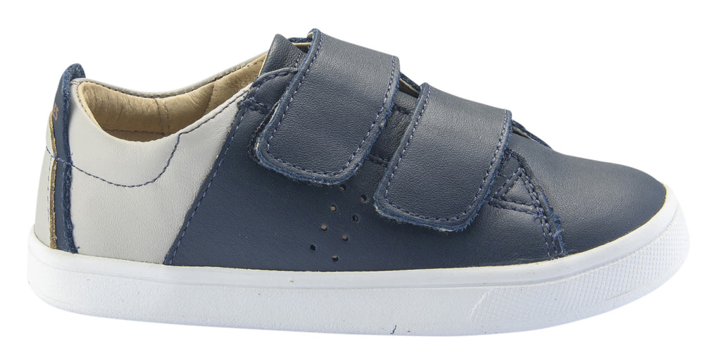 Old Soles Boy's and Girl's Toko Leather Sneakers, Navy/Gris