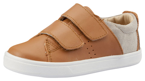 Old Soles Girl's & Boy's Toko Sneaker, Tan / Grey Suede