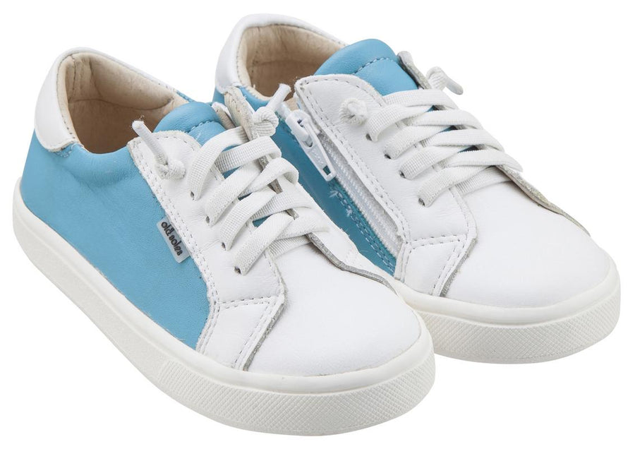 Old Soles Boy's & Girl's 6030 Thor Runner Turquoise Blue and White Shoes