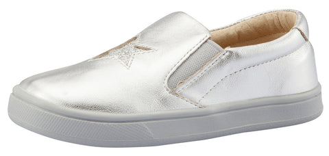Old Soles Girl's and Boy's Starey Hoff Slip-On Shoe, Silver / Glam Argent