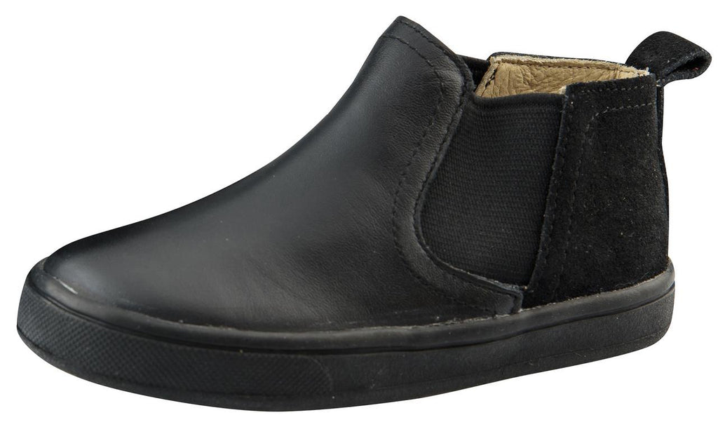 Old Soles Boy's and Girl's Split Local Black, Black/Black Suede