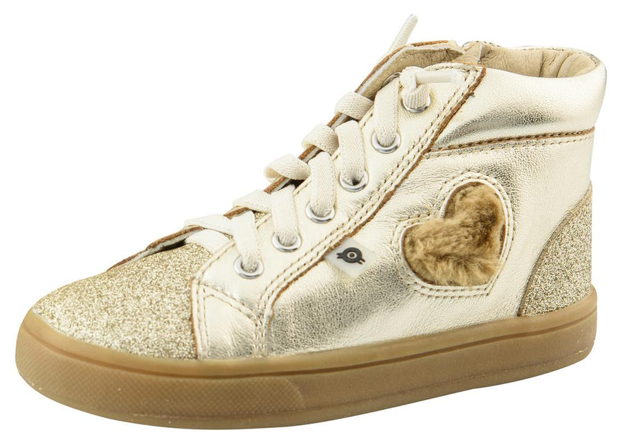 Old Soles Kid's Glam Heart Gold Glam