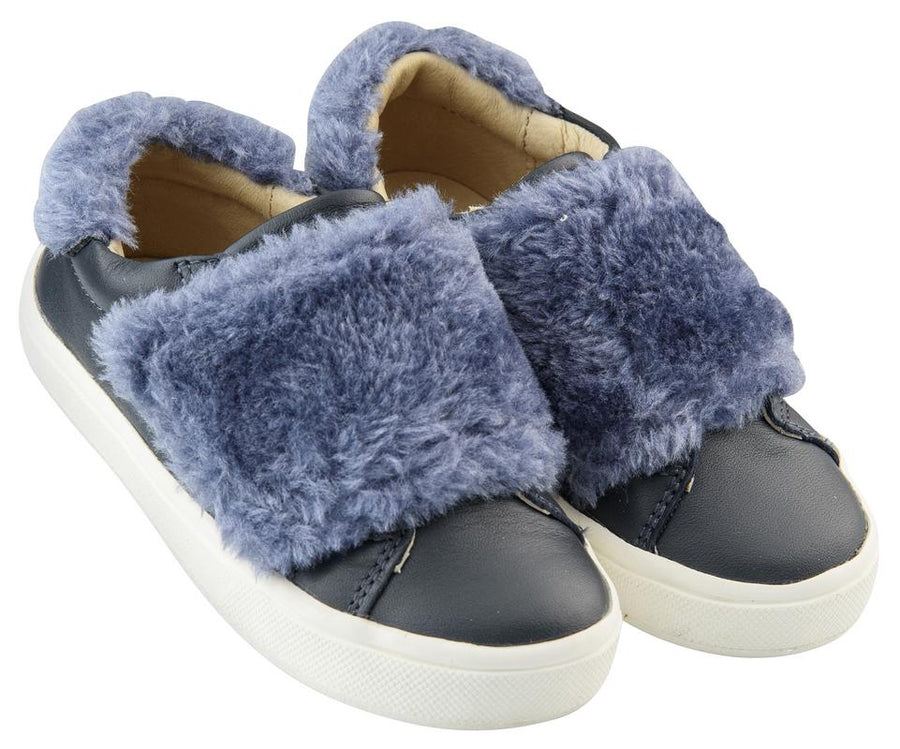 Old Soles Girl's and Boy's Fur Master, Navy/Blue Rinse