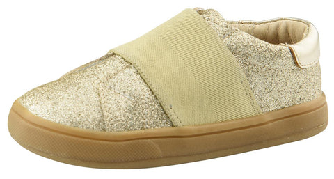Old Soles Girl's Glam Master Slip-On Sneaker Shoe, Glam Gold