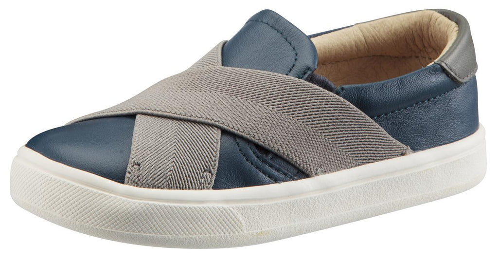 Old Soles Boy's and Girl's Stretch Hoff Slip-On Sneaker Shoes, Jeans/Grey