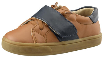 Old Soles Boy's The Oscar Sneaker Shoe, Tan/Navy